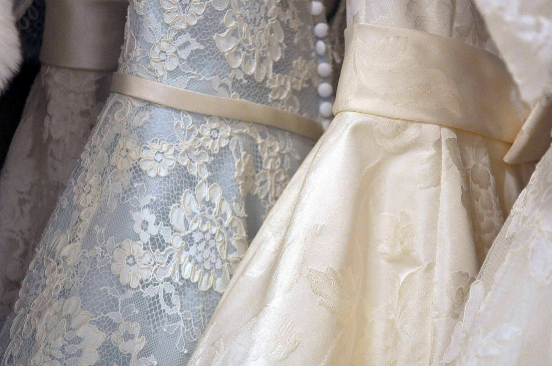 Lace evening or bridal gowns - dry cleaning - Monarch Laundry, York