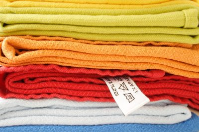 Coloured towels - commercial laundry - Monarch Laundry, York