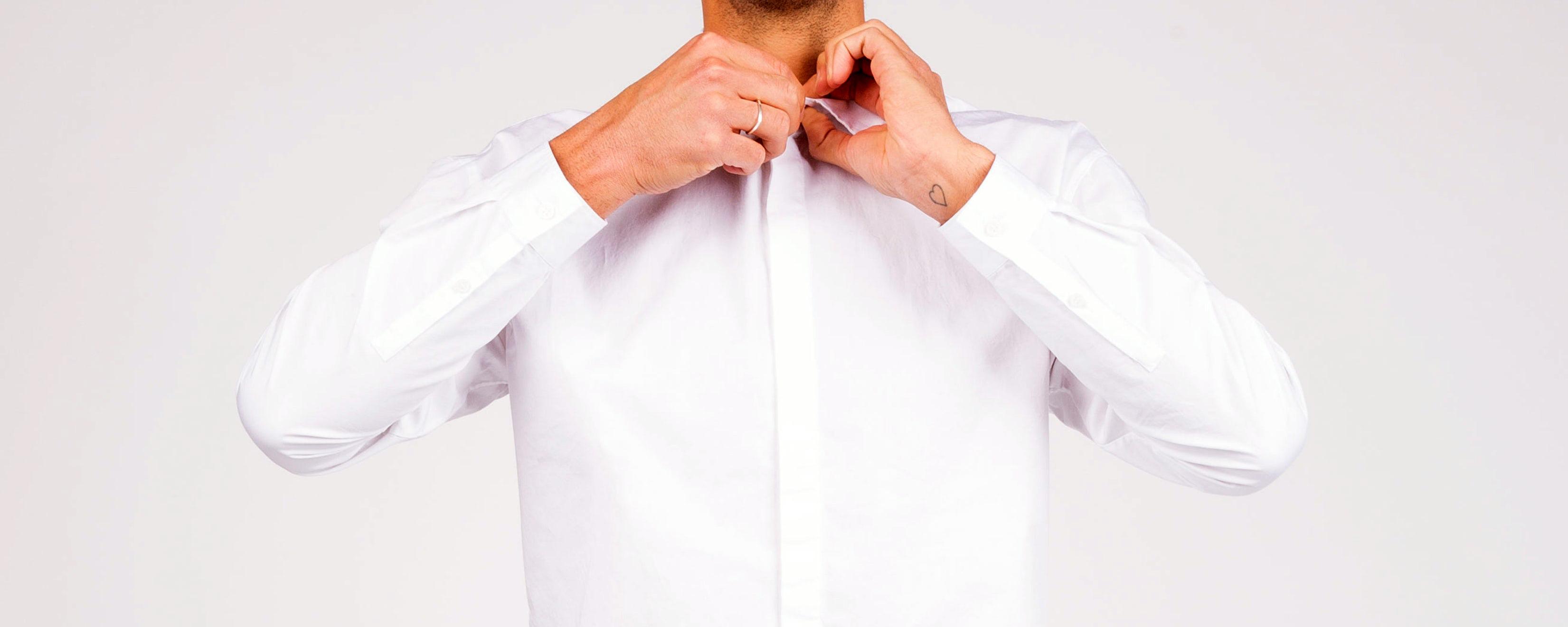 White shirt - Monarch Laundry Testimonials, York