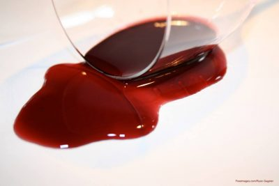Spilt red wine - banish red wine stains - Monarch Laundry tips