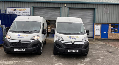 Monarch Laundry vans | 25 years of doing the laundry | York